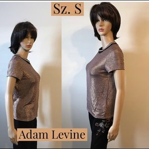 NWT Adam Levine Metallic Top